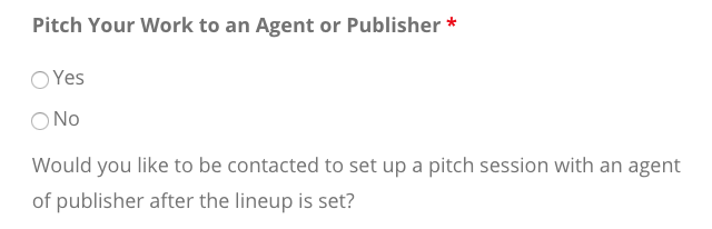 pitching to an agent